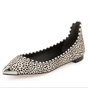 Brian Atwood Spotted Calf Hair Flats